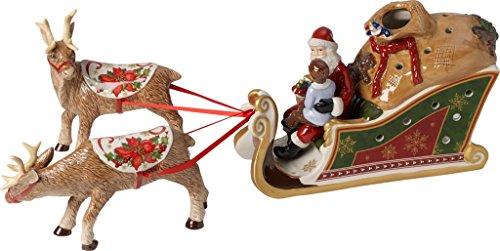 Villeroy & Boch Christmas Toys Slitta Regali Babbo Natale, Porcellana, Bianco/Rosso, 47x10x16 cm