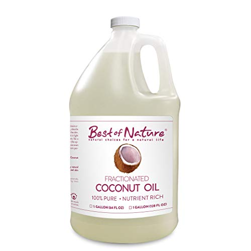 Best of Nature 100% Pure Fractionated Coconut Massage & Body Oil (Half Gallon)