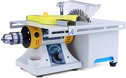 Jewelry Rock Polishing Buffer Machine with Standard Complete Accessories+Woodworking Set 110V 350W Rock Polisher Bench Buffer, Home Bench Polisher Grinder, Mini Table Saw Kit for Gem Metal Woodworking