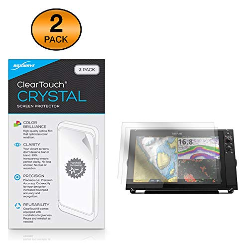 Review Simrad NSS16 Evo3 Screen Protector, BoxWave [ClearTouch Crystal (2-Pack)] HD Film Skin - Shie...