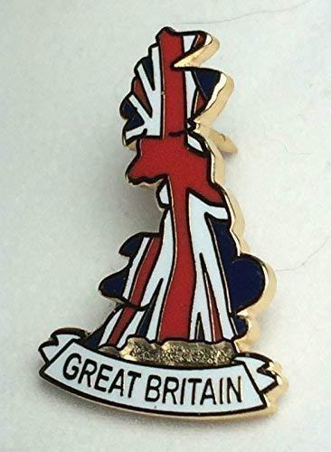Anstecknadel für Großbritannien, englischsprachige Karte, Großbritannien, Emaille