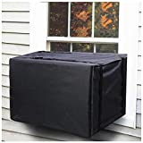 Air Conditioner Covers for Window Units, Black Ac Covers for Outside Winter Exterior, Heavy Duty Waterproof Air Conditioner Insulation Defender with Adjustable Straps 21.5' W x 15' H x 16' D Inches