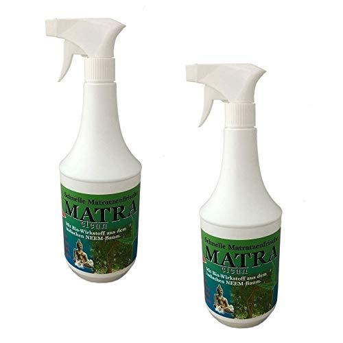 2x1L Matra CLEAN Milbenspray für Matratzen & Polster | Milbenschutz | Milben-Stop-Spray | Matratzenreiniger | Anti Milbenmittel - neutralisiert schnell und zuverlässig