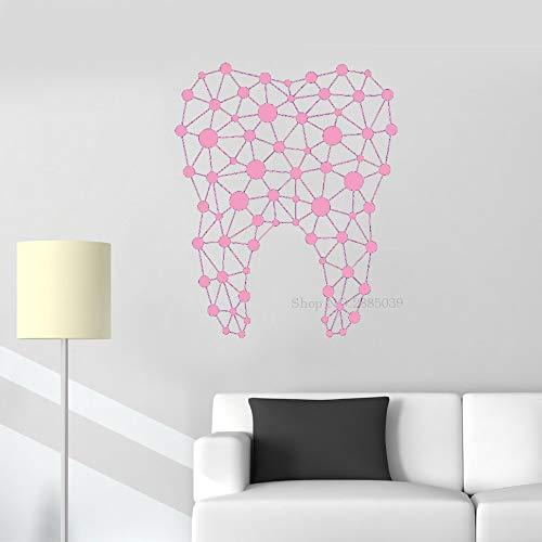 Nuevo diseño Etiqueta de la Pared Dental Vinilo Abstracto Dentista clínica Dental calcomanías Decorativas de Pared decoración del hogar murales de baño Personalizados 110 cm x 136 cm