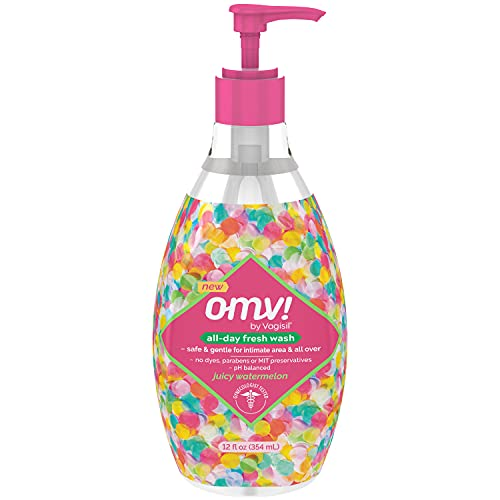 Vagisil OMV! All-Day Fresh Intimate Feminine Wash for Women, Gynecologist Tested, Berry Bliss Scent, Watermelon, 12 Fl Oz