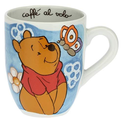 THUN - Taza Winnie The Pooh con mariposa Disney – Accesorios de cocina – Idea regalo – Porcelana – Taza 300 ml, diámetro 8,5 cm, 10,5 h cm