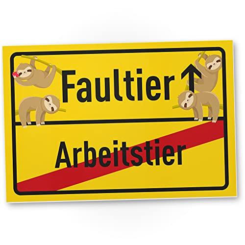 DankeDir! Faultier – Cartel de plástico con mensaje divertido – Idea de regalo para despedida de soltera – Tarjeta decorativa para jubilación – jubilación – Regalo para mujeres y hombres