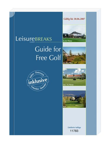 Guide for Free Golf: Gültig bis 30.06.2007