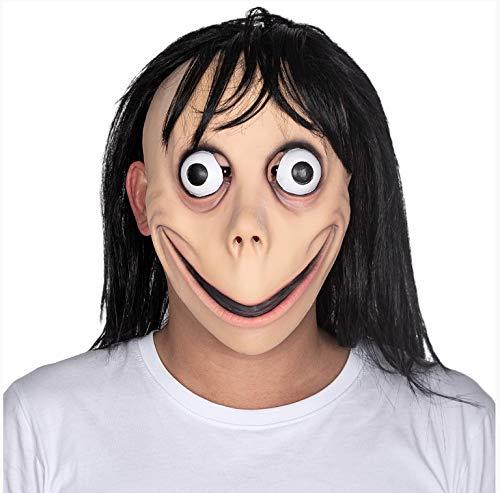 DOUFUZZ Bird Beak Security Momo Hacking Horror Mask Adultos Cosplay Atrezzo Juguete para Halloween Disfraces de Miedo Fiesta