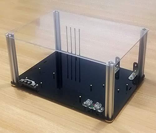 【BWH】PCオープンフレーム 透明 モッドベーススタンド PCケース DIY ケースブラケット M-ATX