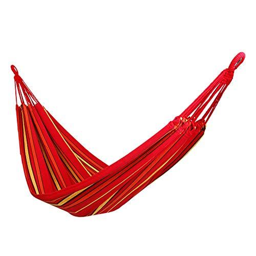 QWERTYU Camping Voyage Hamac, 300 kg Capacité de Charge, (275 x 140 cm) Respirant, séchage Rapide en Parachute en Nylon extérieur Jardin intérieur,Rouge