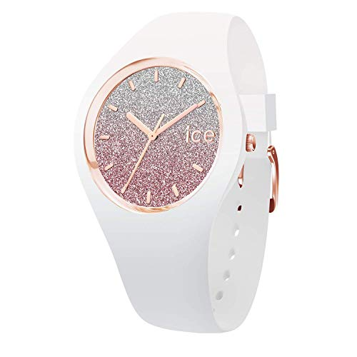 Ice-Watch - ICE lo White pink - Weiße Damenuhr mit Silikonarmband - 013427 (Small)