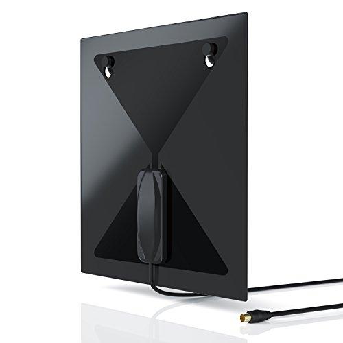 CSL - DVB-T DVB-T2 Antenne - Zimmerantenne mit IEC Koax Stecker Koaxstecker - terrestrischer digitaler Fernsehempfang DVB-T T2