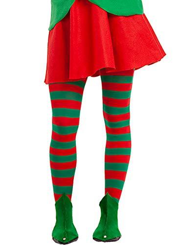 Funidelia   Zapatos de Duende para Hombre y Mujer Elfo navideo, Navidad, Duende navideo - Verde, Accesorio para Disfraz