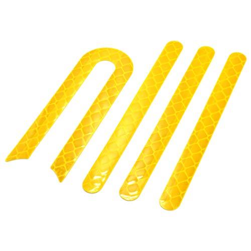 myBESTscooter - Pegatinas reflectantes para las ruedas delantera y trasera para los...
