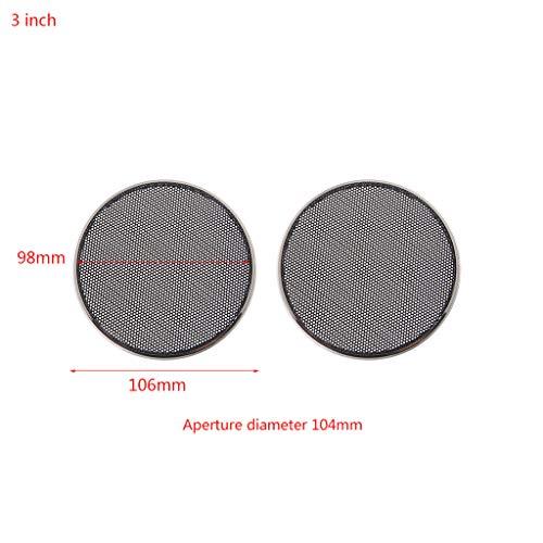ZOUCY 2 stuks 1/2/3/4/5/6.5 inch luidspreker staal gaas ronde grill beschermkap cirkel