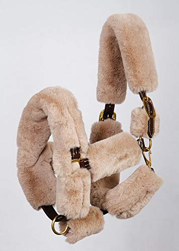 Harry's Horse Furry halster Cover, Farbe:Taupe, Größe:Full