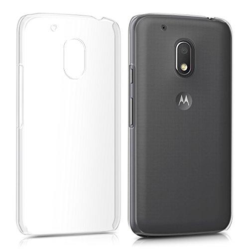 kwmobile Cover Compatibile con Motorola Moto G4 Play - Custodia Rigida Trasparente per Cellulare - Back Cover Cristallo in plastica - Trasparente