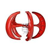 SISHUINIANHUA 8000W Vertical Axi Wind Turbines Generator Lantern 12V 24V 5 Blades Motor Kit for Home Hybrids Streetlight Electromagnetic,12v