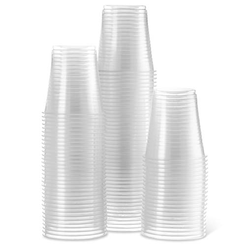 [300 Count - 5 Oz Cups] Settings Clear Disposable Plastic Drinking Cups Great For Juice, Water, Soda, Beer, Use At Party, Home, Office, Picnic, BBQ, Or Event, 3 Packs