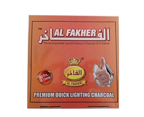 Al-Fakher Kohlescheiben für Shisha, Anthrazit