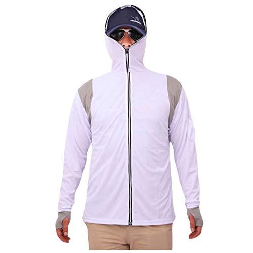showsing-vrouwen kleding Mens Visserij Pak Lange Mouw Hooded Tops Zon UV Bescherming Ademende Visserij Rits Blouse Outdoor Snelle Droge Anti-Muggen Wandelen Sweatshirt