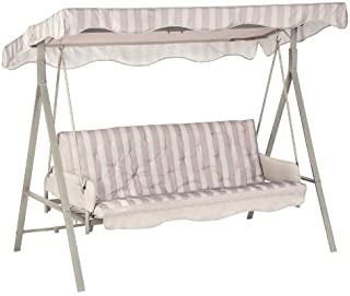 Garden Winds LCM621GY-RS Garden Treasures 3 Person Swing RipLock 350 Replacement Canopy, Gray (Renewed)