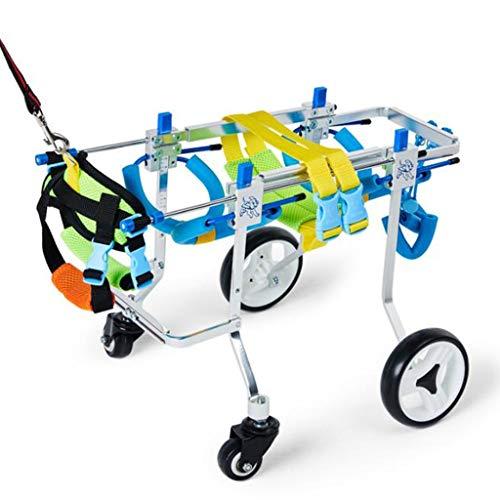 Trolley hondenrolstoel, opvouwbaar, voor honden, met rolstoel, verstelbaar in rolstoel, dier/kat, revalidatie, voor gehandicapte honden, M