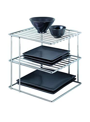 Organize It All Chrome Kitchen Corner Shelf Organizer (Renewed)
