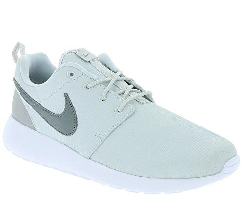 Nike Damen WMNS Roshe One Suede Fitnessschuhe, silberfarben/grau/weiß, 39 EU