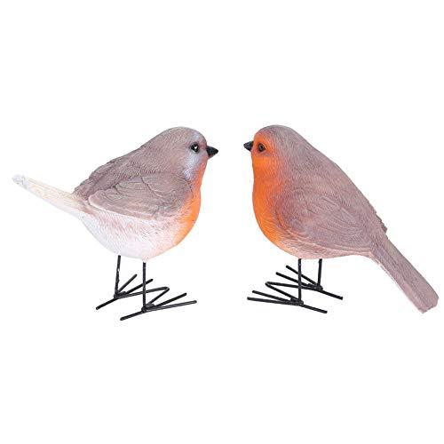 Seacanl Decoración de pájaros, pájaro de Resina 2PCS, pájaros de Resina, Patio...