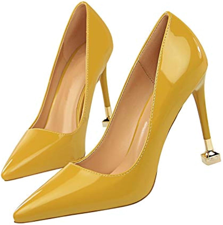 MENGLTX High Heels Sandalen Neue Ankunft Mode Sommer Schuhe Frau Stiletto High Heels Spitz Zehe Pu Leder Frauen Pumpen Gre 34-39