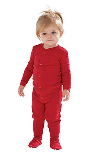 PajamaGram Baby Christmas Pajamas Cotton - Infant Christmas Pajamas, Red, 12M