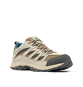 Columbia womens Crestwood Hiking Shoe Pebble/Lagoon 9 Wide US