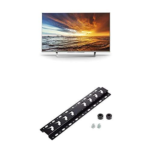 Sony KDL-32WD757 80cm (32 Zoll) Fernseher (Full HD, HD Triple Tuner, Smart-TV) silber + Wandhalterung für Bravia TVs (2019, 2018, 2017, 2016, 2015)
