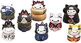 Figuras de Anime 8 unids Naruto Mini Figuras Juego Niños 3cm Juguetes Juguetes Decoración Suministros Personaje Modelo Muñeca de Regalo 8pcs-8pcs