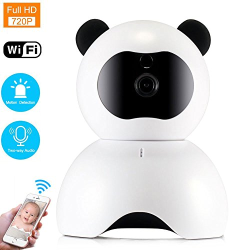 WiFi IP Camera, LEMFO 720P HD Baby Monitor Two-way Audio Indoor Home Security Camera Night Vision Motion Alarm Pet Monitor With Pan Tilt Zoom (White 720P)