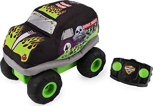 Monster Jam Offizieller Grabbagger aus Plüsch mit Fernbedienung, Monstertruck mit weichem Körper und 2-Wege-Lenkung.