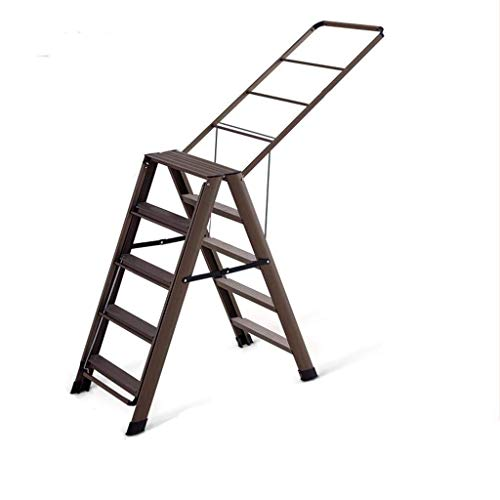 Multifunctionele ladder Huishoudelijke Droogrekken, goederen for tweeërlei gebruik Bilaterale Stepladders Barbershop Handdoekrek Balkon Quilt droogrek droogrek Ladder Huishoudelijke ladder Ladder huis