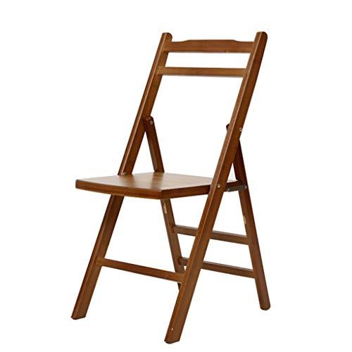 Chaises Chaise pliante en bambou chaise portable chaise de pêche chaise de dossier chaise de loisirs chaise de bureau (Color : Brown, Size : 38x44x79cm)