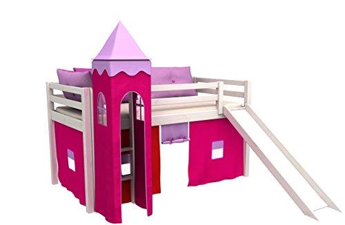 Letto a castello - Letto per bambini con scivolo,cameretta bambino letto materasso