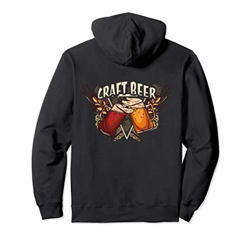 Craft Beer | Kraft Bier mit Biergläsern Pullover Hoodie