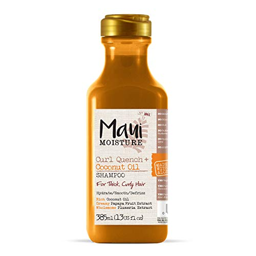 Maui Moisture Vegan Shampoo for Curly Hair, Coconut Oil & Aloe Vera, 385 ml