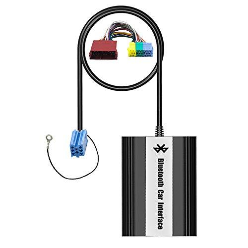Bluetooth USB AUX Musik Adapter mit Freisprecheinrichtung inkl. Mikrofon + Kabelfernbedienung für Audi (8-Pin Mini-ISO) mit Concert 1/2 Chorus 2 Symphony 1/2 Navigation MFD Plus (RNS-D)