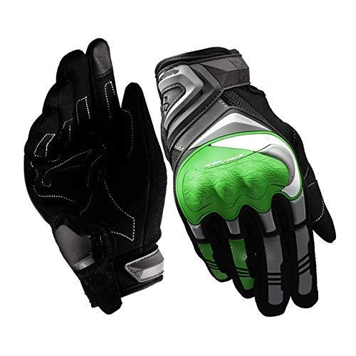 Motocicleta Reflectante Nocturna con Pantalla táctil, Guantes de Dedos completos, Motociclista de Carreras de protección, Motocicleta de Motocross