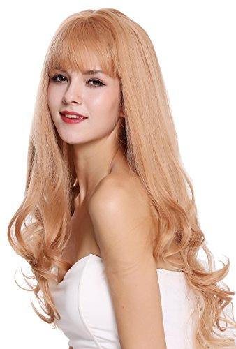 WIG ME UP - C8026-22/344 Perücke Damenperücke Pony lang glatt leicht gelockte Spitzen Blond Aschlond Rotblond Mix