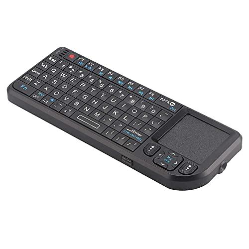 Verdelife 2.4G Mini Teclado inalámbrico Mouse USB Touchpad número de Ratones Teclados Black Gamer