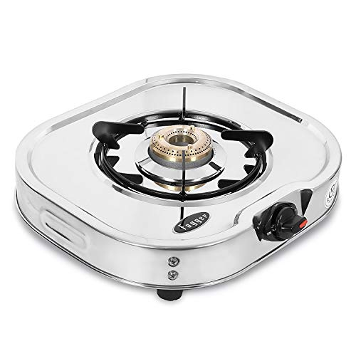 Fogger Glen Stainless Steel 1 Burner Gas Stove, ISI Certified, Manual, Silver