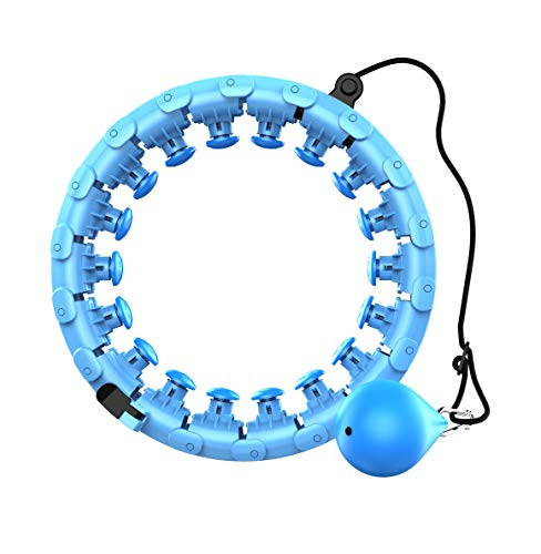 LOVHO Hula Hoop Detachable Adjustable Size That Won't Fall with 360 Degree Massage Function (Blue)
