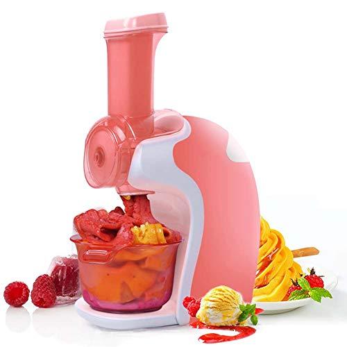 BTSSA Speiseeismaschine,Heimgebrauch Frucht Eismaschine Für Gefrorene Früchte Fettfrei-Kalorienarm-Leicht Zu Bedienen 220V,Rot